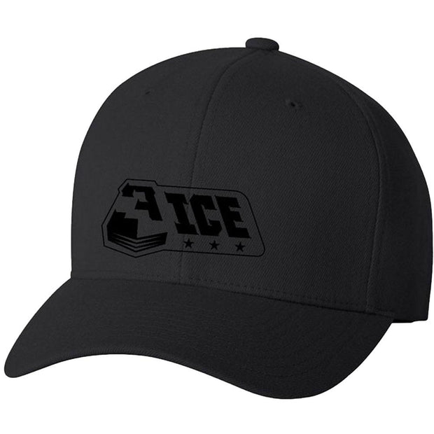 3ICE Logo All Black Flexfit Hat