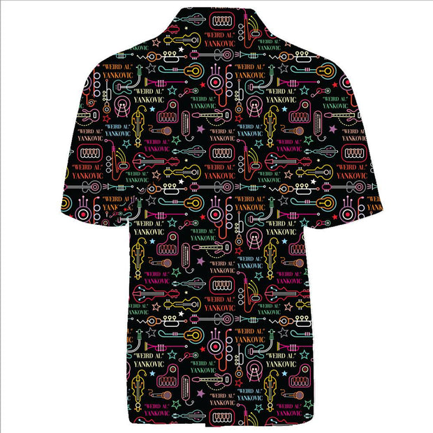 WEIRD AL YANKOVIC Neon Instruments Button Up Shirt
