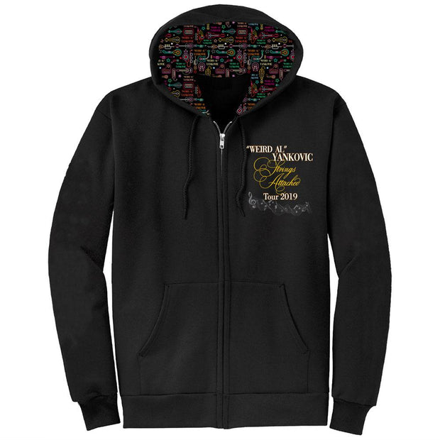 WEIRD AL YANKOVIC Strings Attached Tour Zip Hoodie