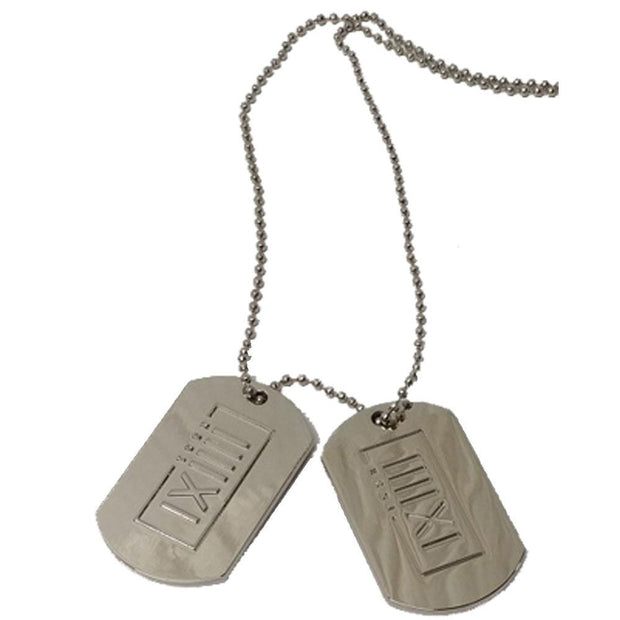 K 391 Embossed IIIIXI Dog Tags