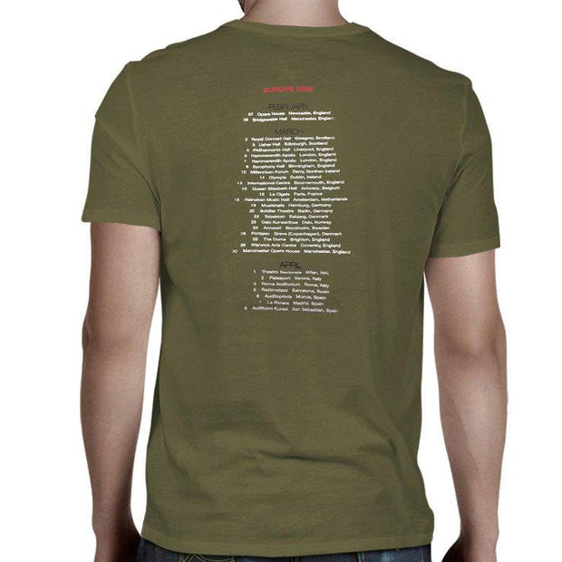 JACKSON BROWNE Europe 2003 Tour T-Shirt