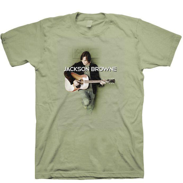 JACKSON BROWNE Solo Acoustic Holding Guitar Shirt