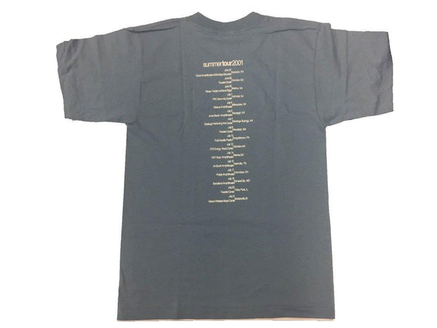 JACKSON BROWNE US Summer 2001 Grey and Maroon Tour Shirt
