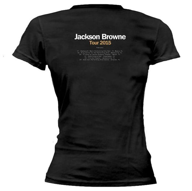 JACKSON BROWNE Standing In The Breach Feb 2015 Tour Ladies Tee