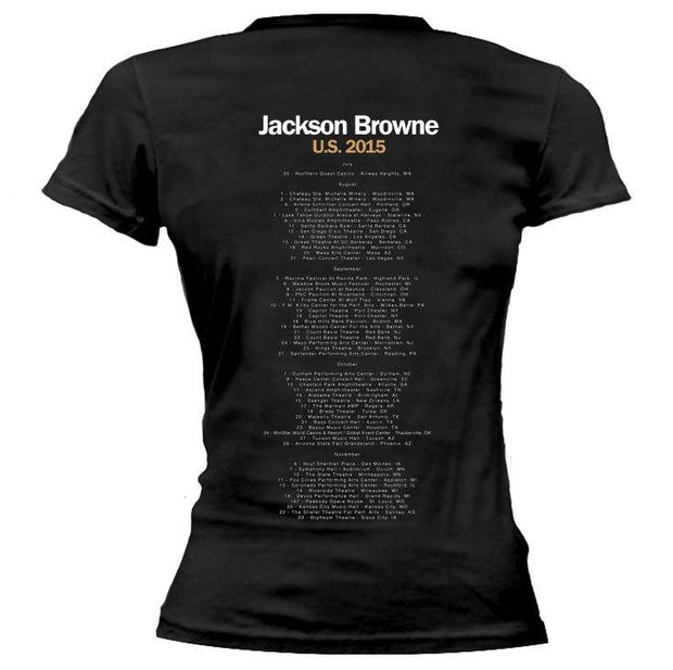 JACKSON BROWNE Standing In The Breach 2015 Ladies Tour Tee