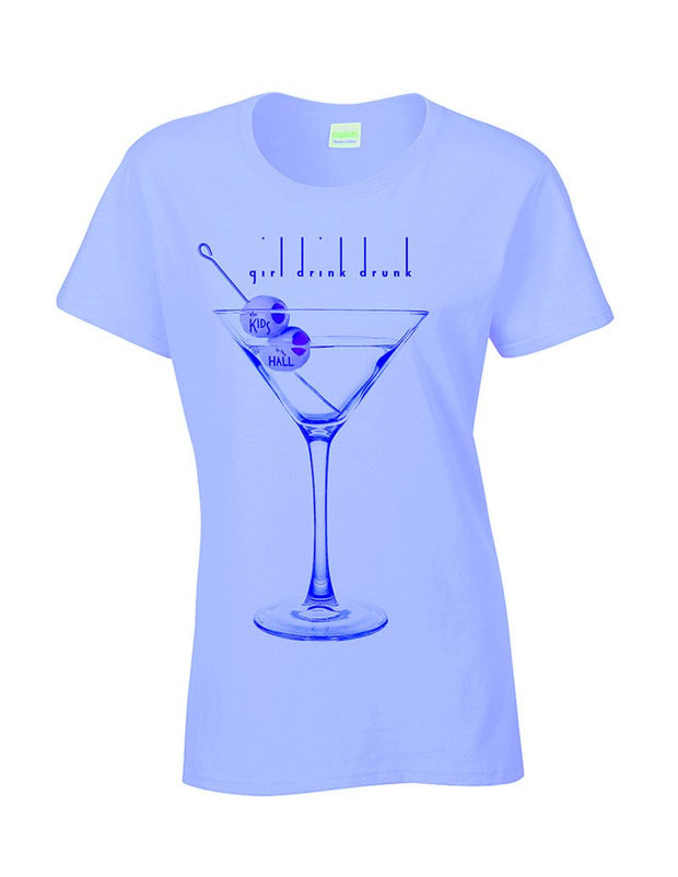 KIDS IN THE HALL Girl Drink Drunk Ladies Tee