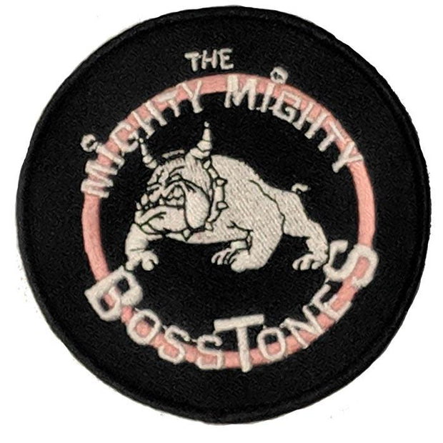 MIGHTY MIGHTY BOSSTONES Round Emblem Bulldog Black Patch