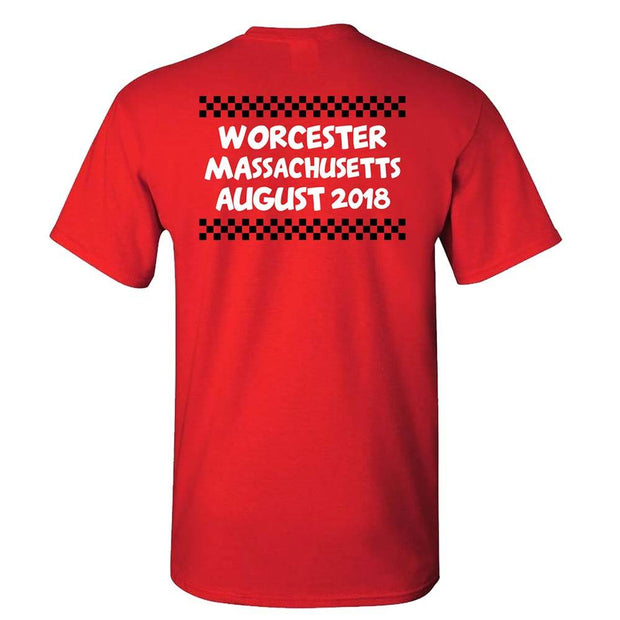 MIGHTY MIGHTY BOSSTONES Crankin' Worcester 2018 Red Tour Shirt