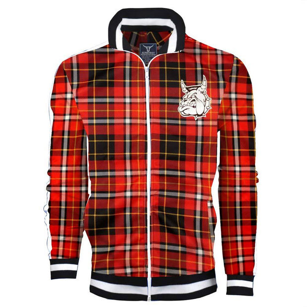 MIGHTY MIGHTY BOSSTONES Bulldog Red Plaid Zip Jacket