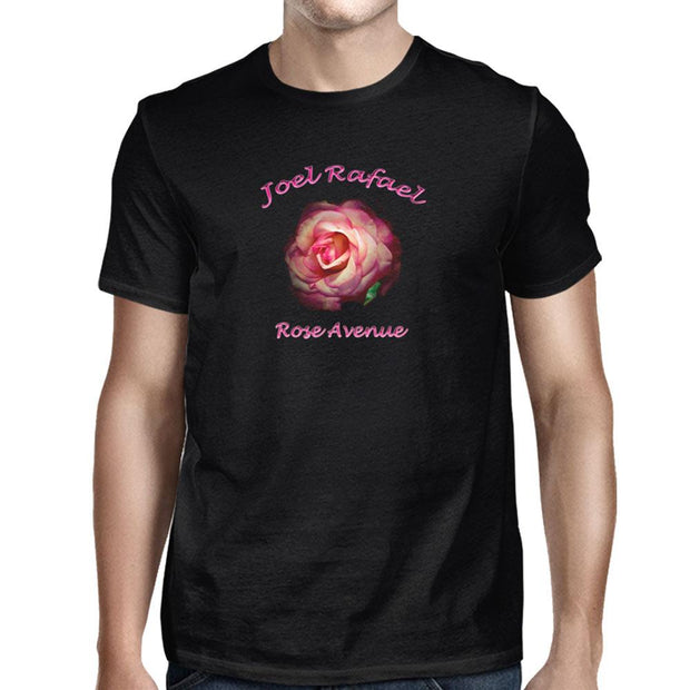 JOEL RAFAEL Rose Black T-Shirt