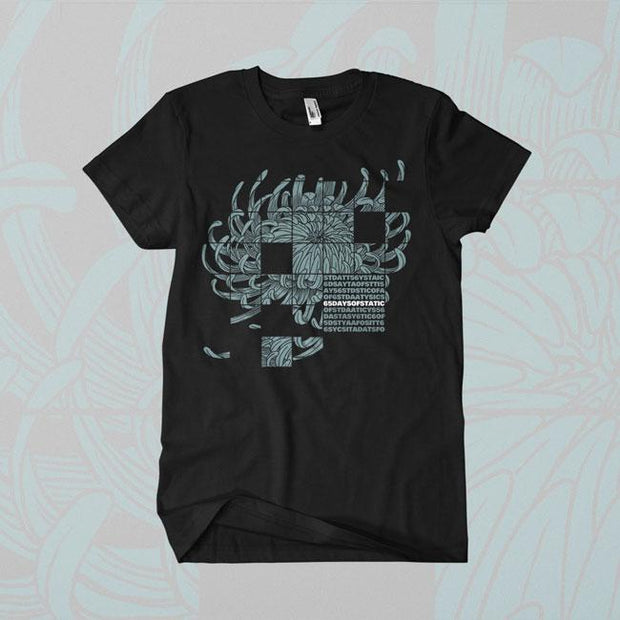 65 DAYS OF STATIC Visual Petal Black T-Shirt