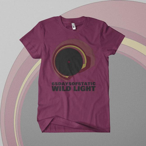 65 DAYS OF STATIC Visual Wild Light Burgundy T-Shirt
