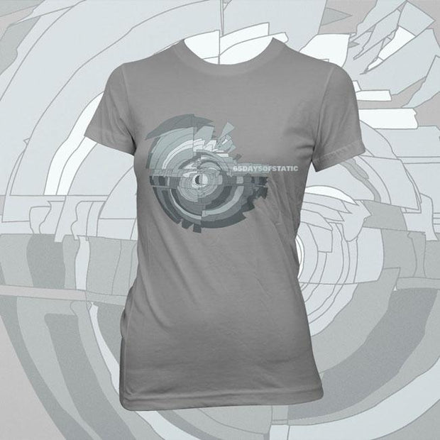 65 DAYS OF STATIC Ladies Wild Light Gray T-Shirt