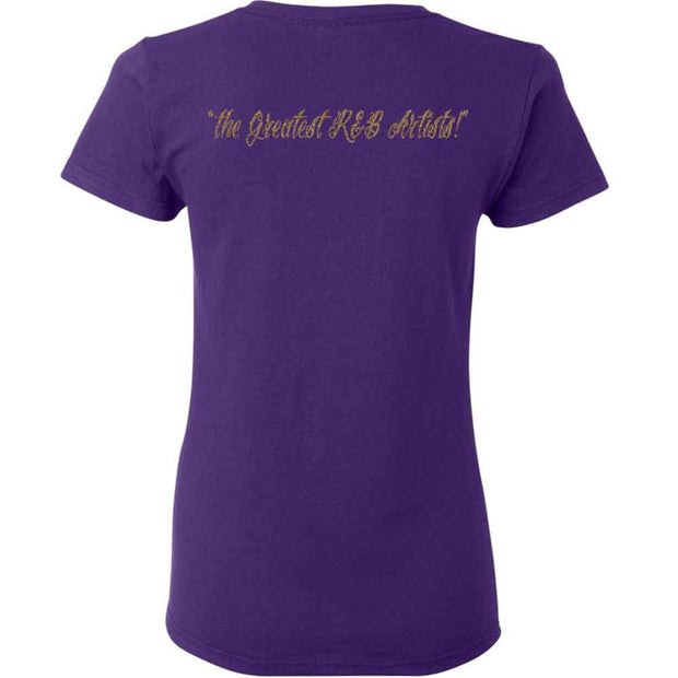 THE TEMPTATIONS Emperors of Soul Crest Ladies T-Shirt - Purple