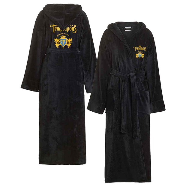 THE TEMPTATIONS Embroidered Crest Bath Robe