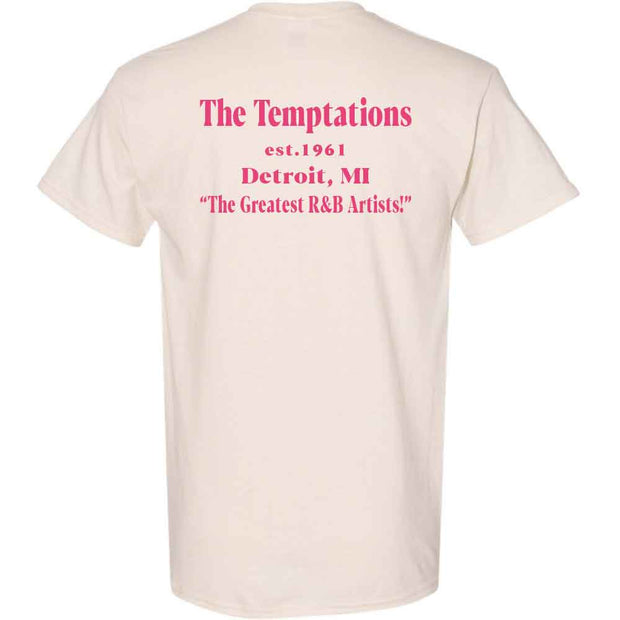 THE TEMPTATIONS Live! Est 1961 Detroit T-Shirt - Natrual