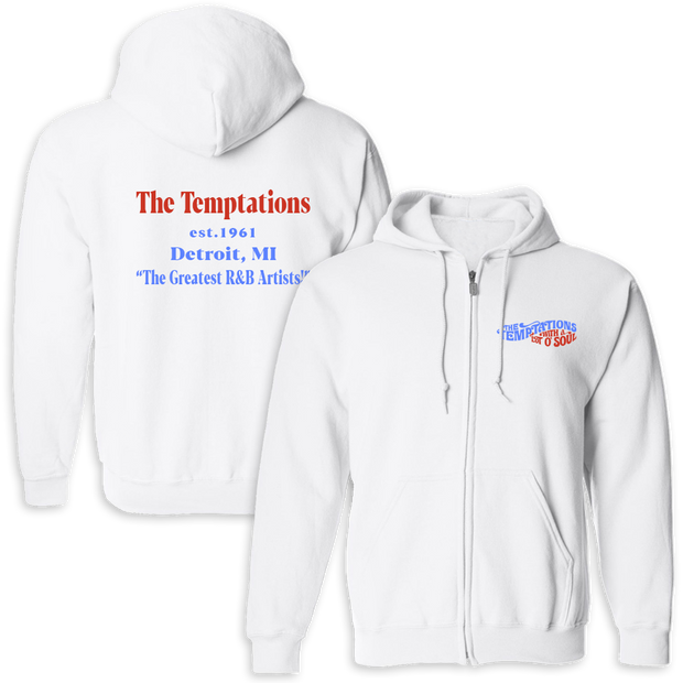 THE TEMPTATIONS Greatest R&B Artists Zip Hoodie