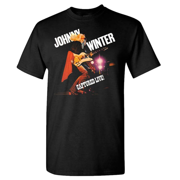 JOHNNY WINTER Captured Live T-Shirt