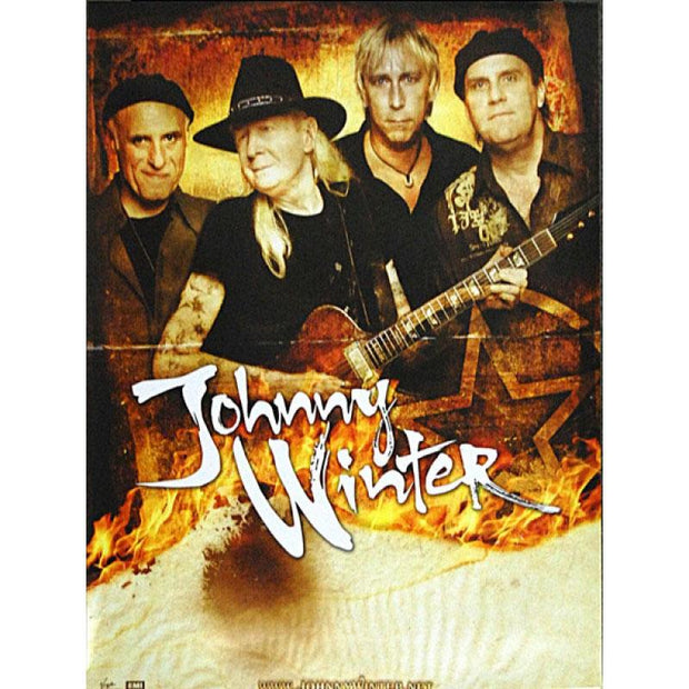 JOHNNY WINTER Band Photo Poster