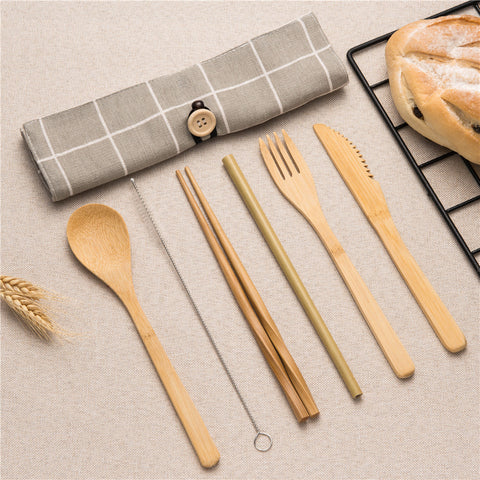 Bamboo Cutlery Travel Set | Urban