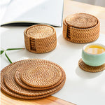 Rattan Table Mats and Coasters