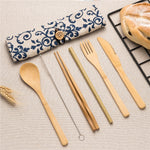 Bamboo Cutlery Travel Set | Bohemian