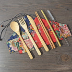 Bamboo Cutlery Travel Set | Japanese Style