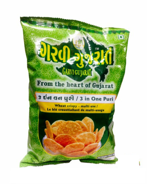 Garvi Gujarat 3 in One Puri 285gm (Chat Papdi) - Spice Divine
