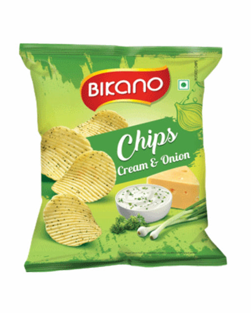 Bikano Chips Cream & Onion 60gm - Spice Divine