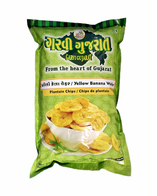 Garvi Gujarat Yellow Banana Wafer 908gm (Plantain Chips 2lb) - Spice Divine