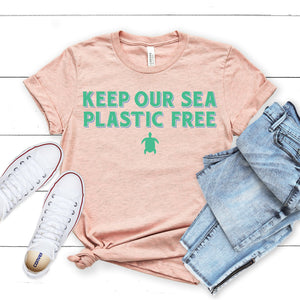 Keep Our Sea Plastic Free Turtle T-Shirt