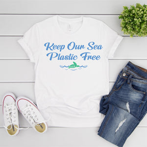 Keep Our Sea Plastic Free Wave T-Shirt