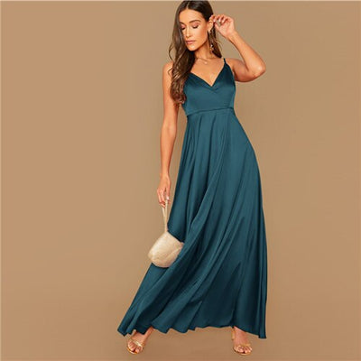 Robe Cocktail en Satin