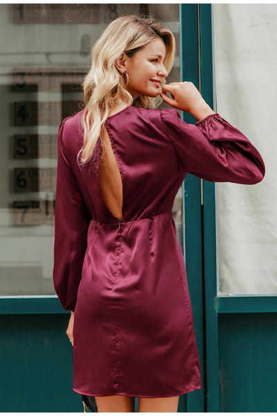 Robe Cocktail Couleur Prune