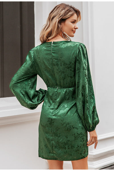 Robe Cocktail Verte Courte