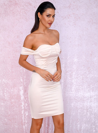 Robe Cocktail Couleur Abricot