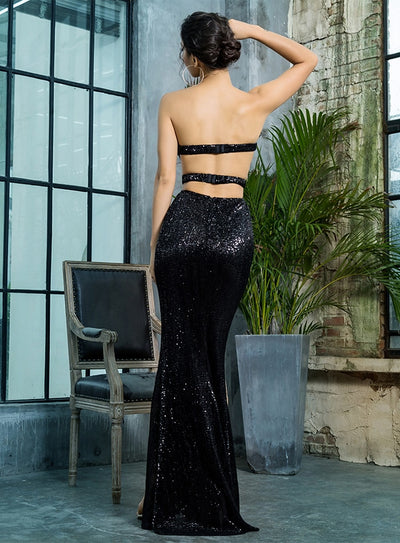 Robe Cocktail Bustier Longue