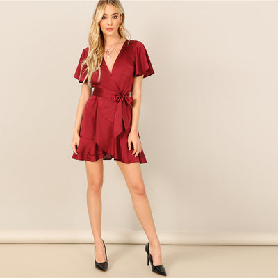 Robe Cocktail Manche Courte