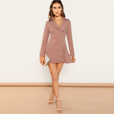 Robe Cocktail Rose Clair
