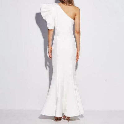Robe Cocktail Une Épaule