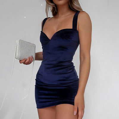 Robe Cocktail Bleu Roi