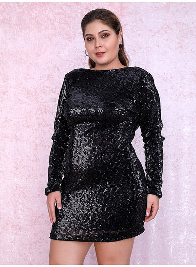 Robe Cocktail Noire Grande Taille