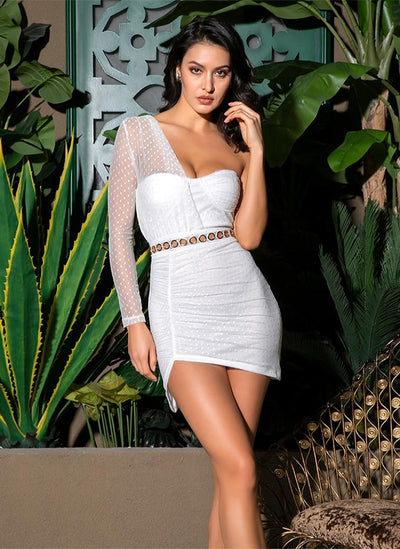 Robe Cocktail Bustier Blanche | Ma Robe Cocktail