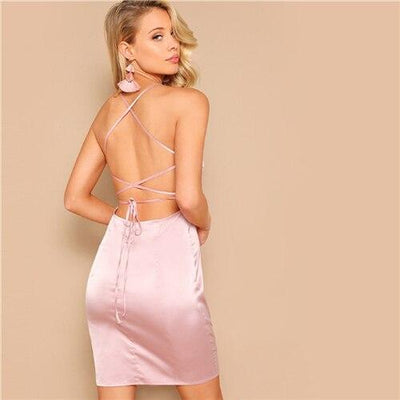 Robe Cocktail Femme Rose Pâle | Ma Robe Cocktail