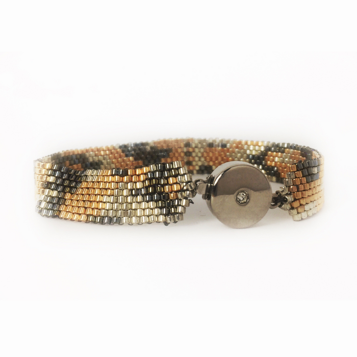 Rose Gold, Silver, Grey Cobra Bracelet