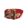 Gold, Silver, Red Cobra Bracelet