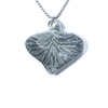 Blue Lace Agate, Aquamarine, Sterling Silver Etched Necklace Back