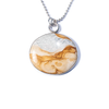 Picture Jasper, Sterling Silver Etched Necklace