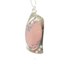 Pink Opal, CZ, Sterling Silver Etched Necklace