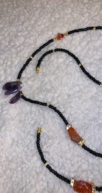 Load and play video in Gallery viewer, Amethyst Carnelian Waistbead